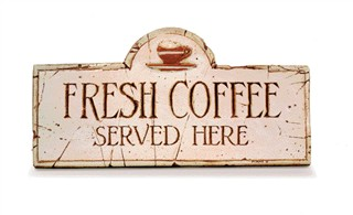 Quot Fresh Coffee Served Here Quot Sign Creative Breakfast Concepts