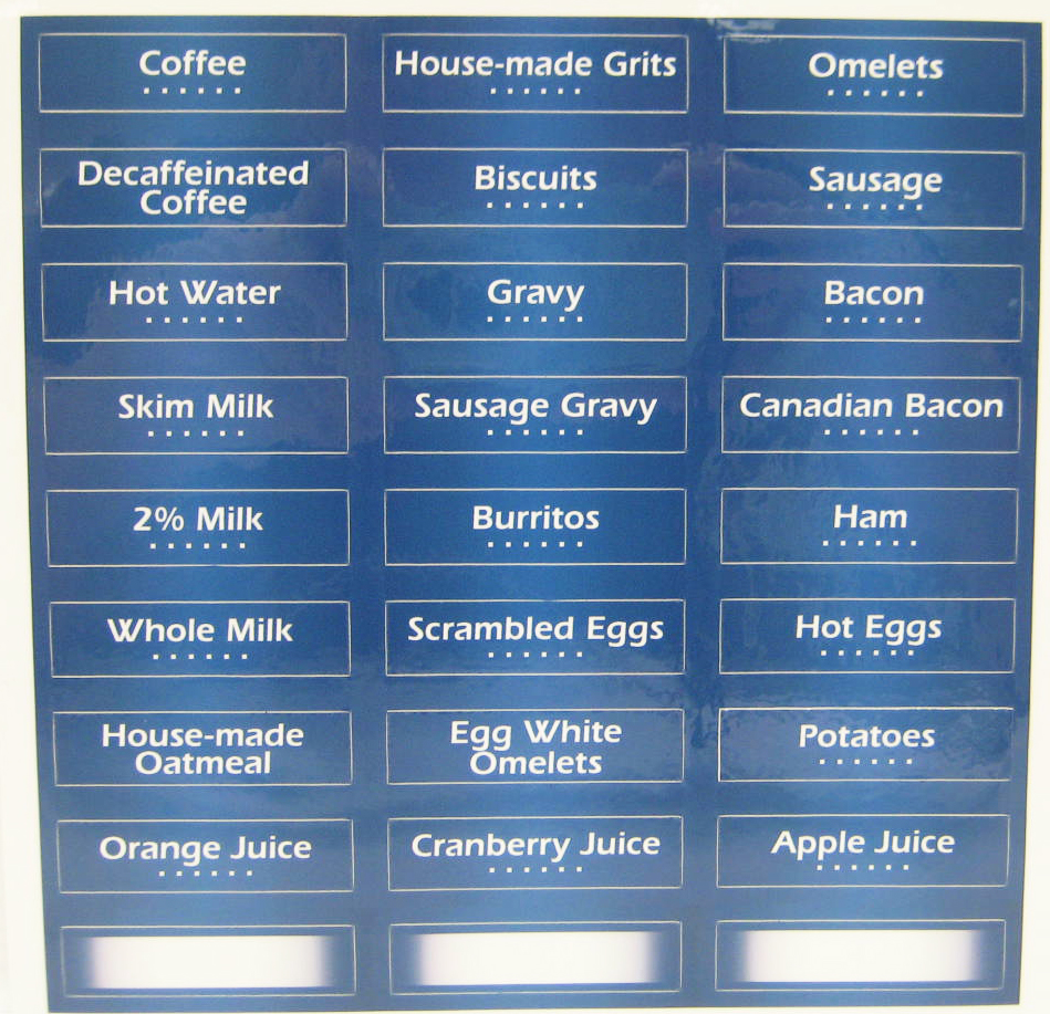 Identification Labels: Creative Breakfast Concepts