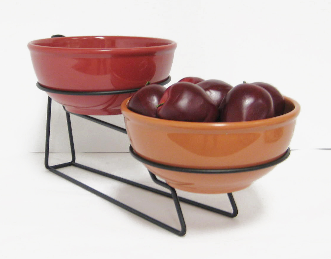 two bowl display melamine creative breakfast concepts